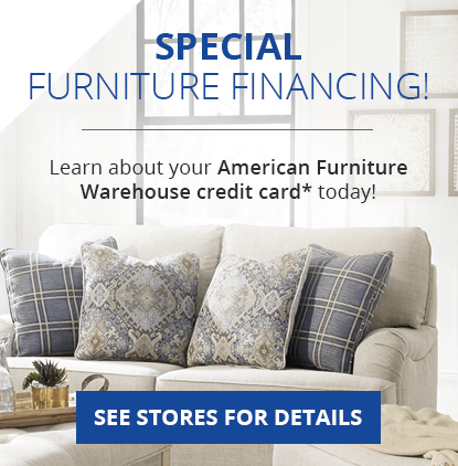 Apply for your American Furniture Warehouse credit card today!