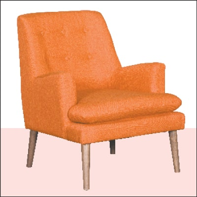 Urban Orange Accent Chair