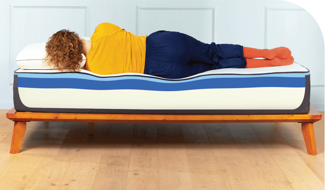 Close up of girl sleeping on a Nectar mattress
