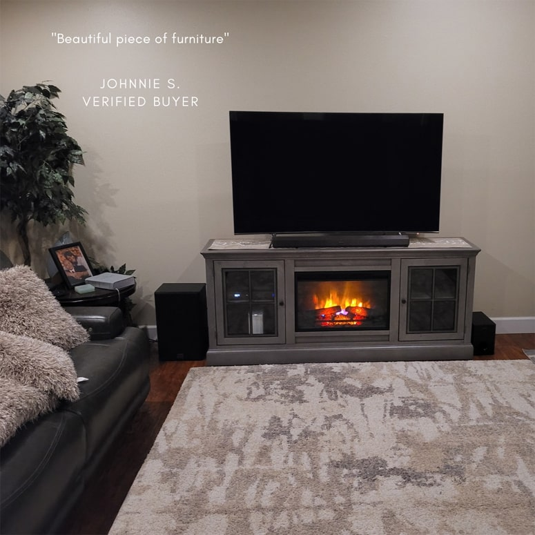 Modern fireplace in a home example