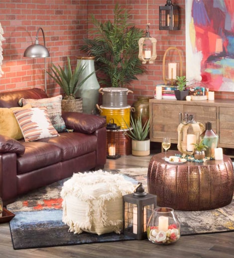 Moody Boho Chic Living Room